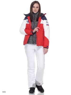 Куртка Stayer. Цвет: темно-синий, белый, красный