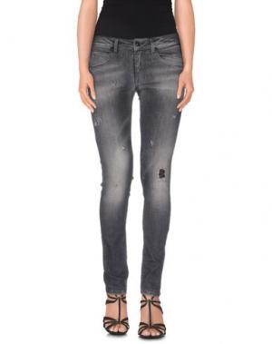 Джинсовые брюки AB/SOUL. Цвет: серый
