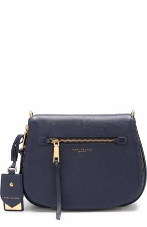 Кожаная сумка Recruit Marc Jacobs. Цвет: темно-синий