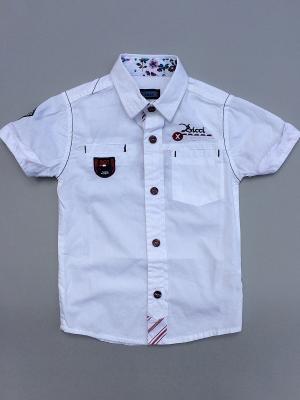 Рубашка для мальчика La Pastel. Цвет: белый, красный, черный