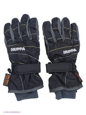 Перчатки HUPPA. Цвет: черный