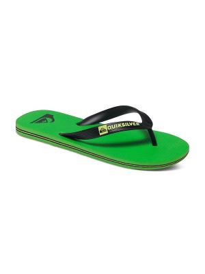 Пантолеты Quiksilver. Цвет: зеленый