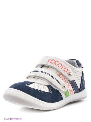 Кроссовки Indigo kids. Цвет: молочный, темно-синий