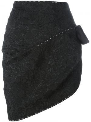 Жаккардовая юбка с бантом Dolce & Gabbana. Цвет: чёрный