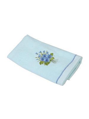 Полотенце Фиалка 30х70 La Pastel. Цвет: голубой
