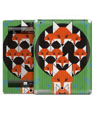Виниловая наклейка для iPad Foxsimilies-Charley Harper Gelaskins. Цвет: зеленый, оранжевый