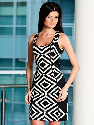 Платье Analili. Цвет: черный, кремовый