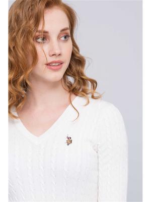 Пуловер U.S. Polo Assn.. Цвет: белый