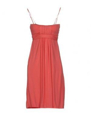 Короткое платье RA-RE. Цвет: коралловый