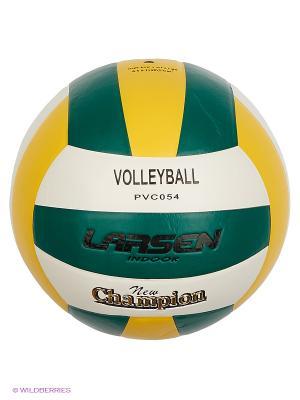Мяч волейбольный PVC054 Larsen. Цвет: желтый, белый, зеленый