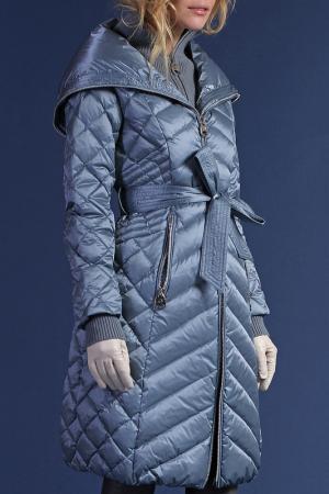 Пальто Naumi. Цвет: голубой