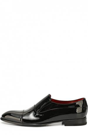 Классические туфли из лаковой кожи Barrett. Цвет: черный