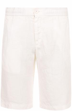 Льняные бермуды с карманами Z Zegna. Цвет: белый