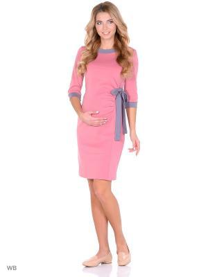Платье для беременных FEST. Цвет: розовый, серый