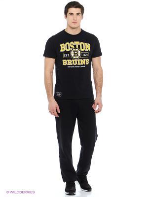 Футболка Boston Bruins Atributika & Club. Цвет: черный