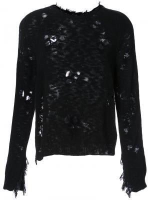 Destroyed Jarld knitted sweater Dodo Bar Or. Цвет: чёрный