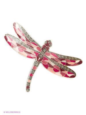 Заколка Clara Bijoux. Цвет: бордовый, бежевый, розовый