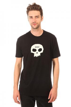 Футболка  Single Skull Premium Black Zero. Цвет: черный