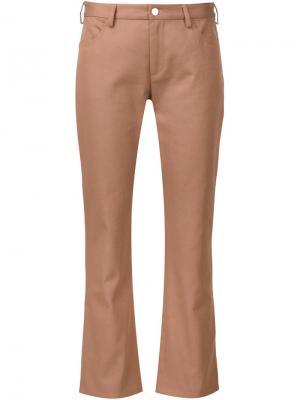 Укороченные брюки прямого кроя Nomia. Цвет: телесный