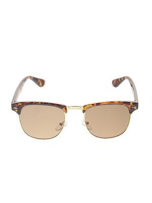 Солнцезащитные очки Happy Charms Family. Цвет: коричневый, золотистый