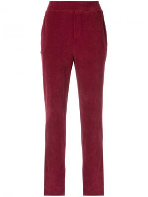 Velvet trousers Osklen. Цвет: красный