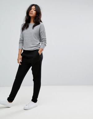 JDY Свободные брюки. Цвет: черный