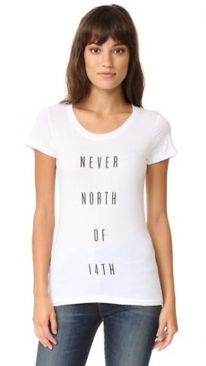 Футболка с надписью «Never North of 14th» Barber. Цвет: белый