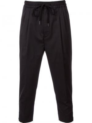 Укороченные брюки monkey time. Цвет: чёрный