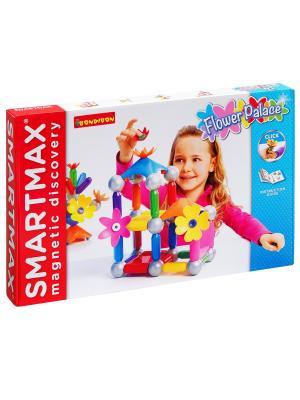 Магнитный конструктор SmartMax/ Bondibon Специальный (Special) набор: Цветочный дворец ,арт.503.. Цвет: белый, красный, синий