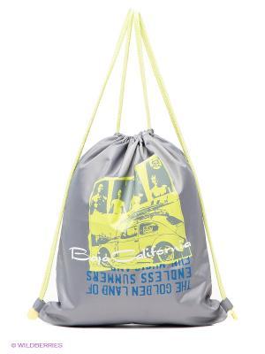 Рюкзак S`Cool. Цвет: серый, салатовый