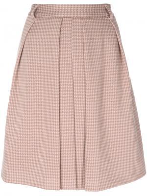 Плиссированная юбка Steffen Schraut. Цвет: розовый и фиолетовый