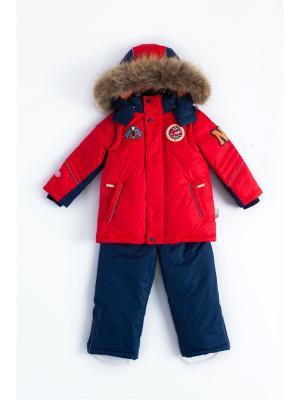 Комплект (куртка, полукомбинезон) NELS. Цвет: темно-синий, красный