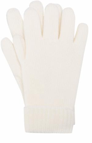 Шерстяные перчатки Il Trenino. Цвет: белый