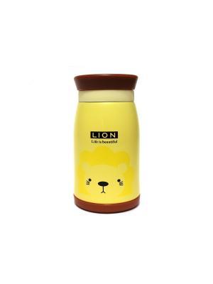 Термос Eleon. Цвет: коричневый, желтый