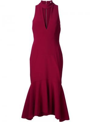 Платье Bravado с высокой горловиной Rebecca Vallance. Цвет: красный