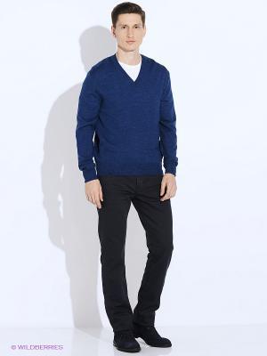 Пуловер JB casual. Цвет: синий