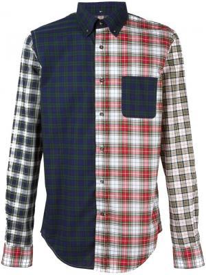 Рубашка с узором Wooster + Lardini. Цвет: многоцветный