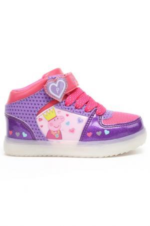 Ботинки Peppa Pig. Цвет: сиреневый