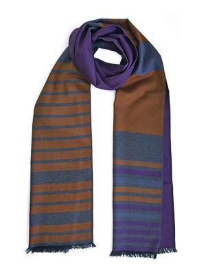 Мужской шарф LANYINGDI ША-04 30*180 100% шелк. Цвет: голубой, рыжий, фиолетовый
