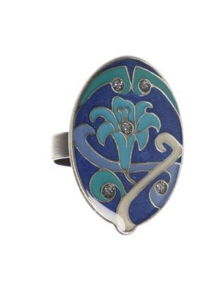 Кольцо Clara Bijoux. Цвет: синий, бирюзовый, зеленый