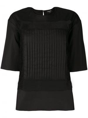 Блузка с полупрозрачными вставками Rochas. Цвет: чёрный