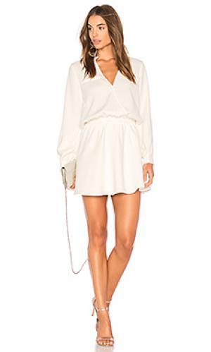 Платье с длинным рукавом marais Line & Dot. Цвет: белый