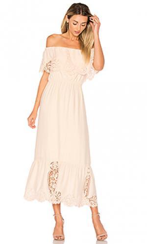 Платье lily Nightcap. Цвет: персиковый