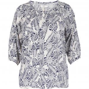 Блузка ZIZZI. Цвет: рисунок/зеленый