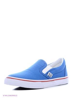 Слипоны 4U. Цвет: голубой, синий