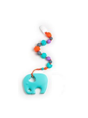 Игрушка-подвеска MamSi. Цвет: бирюзовый, оранжевый, серый