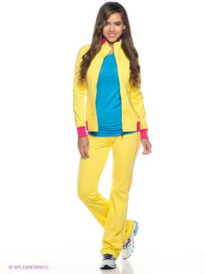 Спортивный костюм ADDIC. Цвет: желтый