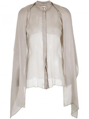 Chiffon shirt Gloria Coelho. Цвет: телесный