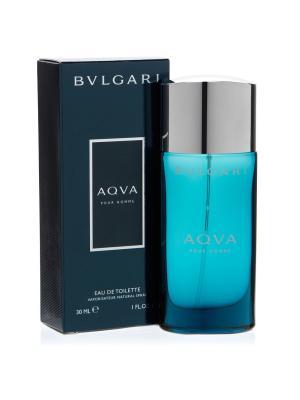 Aqua man edt 30 ml BVLGARI. Цвет: темно-синий