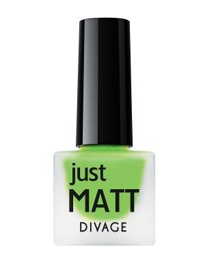 Лак для ногтей JUST MATT тон 5625 DIVAGE. Цвет: зеленый